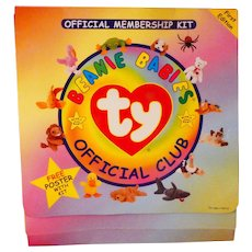 First Edition ty Beanie Babies Official Membership Kit
