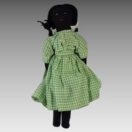 Vintage Hand Made Black and White Flip Doll