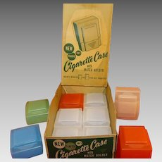Vintage Display Box with 10 Plastic Cigarette Cases for both Regular and King Size Cigarettes