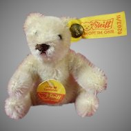 Off White Original Steiff Teddy Bear Seated 3 Inches High
