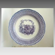 "Fabulous Minton 11.75"" Purple Transferware Chop Serving  Plate The Gem"