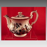 Davenport Children's Toy China English Teapot Nankin Pattern c. 1850