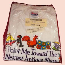 Point Me Toward The Nearest Antique Shop T Shirt  Unopened Package, Size XL