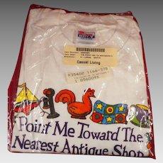 Point Me Toward The Nearest Antique Shop T Shirt  Unopened Package, Size XL