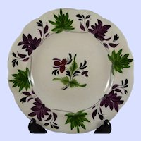 """Hand Painted Early 9"""" English Plate"""