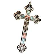 Antique micro mosaic cross - crucifix - Italian grand tour item- 5 - Exquisite design