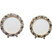 Vintage Millefiori Micro Mosaic PAIR of Round Photo Frames New Old Stock Pristine Rare