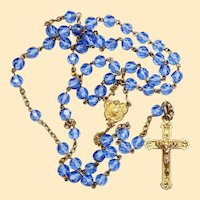 Catholic Vintage Rosary New Old Stock Lavender Crystal Vermeil Exquisite Series No12