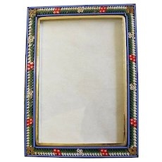 Vintage Rectangular Photo Frame in Millefiori Micro Mosaic – From Italy - 1960's - Rare
