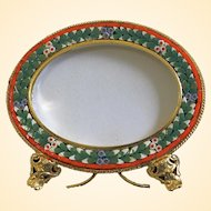 Vintage Special Oval Photo Frame in Millefiori Micro Mosaic – From Italy - 1960's - Rare
