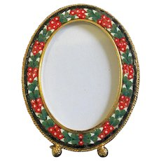 Vintage Oval Photo Frame in Millefiori Micro Mosaic – From Italy - 1960's - Rare