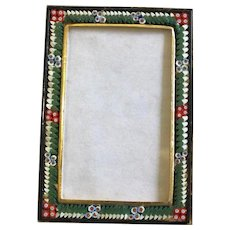 Vintage RECTANGULAR R3 Photo Frame in Millefiori Micro Mosaic – From Italy - 1960's - Rare