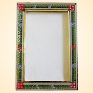 Vintage RECTANGULAR R2 Photo Frame in Millefiori Micro Mosaic – From Italy - 1960's - Rare
