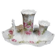 3 Piece Hatpin Holder with stickpin and ring holder