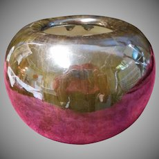Fulper Black Mirror Edam Vase