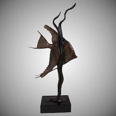 Bronze Aquatic Sculpture by Andre Becquerel