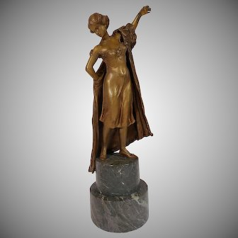 Austrian Bronze Female Sculpture by Namgreb