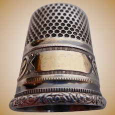 Silver and Gold Washed Thimble