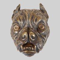 Bronze Bulldog Stamp Box