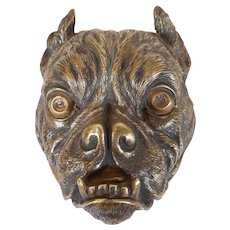Bronze Bulldog Stamp Box
