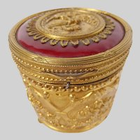 Enamel and Brass Musical Powder Box