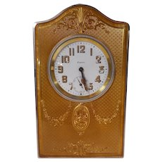 Sterling and Enamel Table ClocK