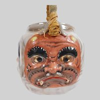 Japanese Banko Mythological Face Teapot