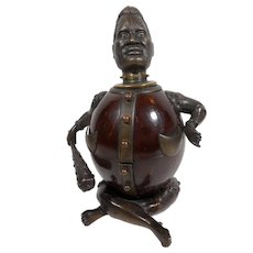 Combination Bronze/coconut Bell and Inkwell