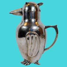 Art Deco Silverplate Penguin Decanter