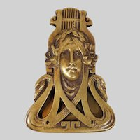 Art Nouveau Bronze Paper Clip