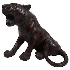 Japanese signed bronze Tiger