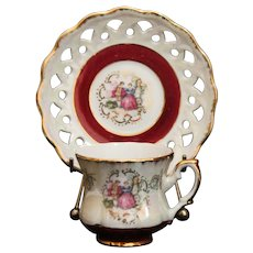Empress by Haruta Courting Couples Demitasse Cup and Saucer