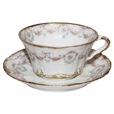 Theodore Haviland Limoges Schleiger 330 Tea Cup and Saucer
