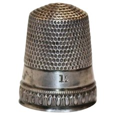 Simon Brothers Sterling Silver Thimble Size 12