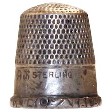 Stern Brothers Sterling Silver Thimble Size 9