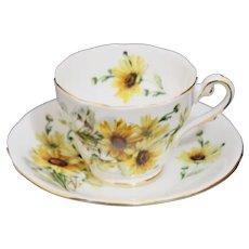 Royal Standard Brown-Eyed Susan Tea Cup and Saucer