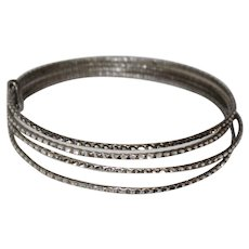 Coro Sterling Silver Bangle Bracelets - Four Attached Bangles