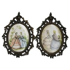 Vintage Southern Belle Wall Hangings - Made in Italy