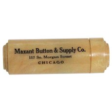 1940's Travel Sewing Kit - Advertising Collectible for Maxant Button and Supply - Banner Service Perfect Pleating