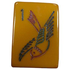 """Vintage """"ROYAL"""" Soaring Sparrow Mah Jong game - 152 tiles - ready to play NMJL rules out of the box !"""