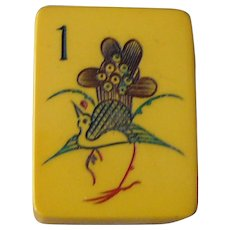 """Adorable Vintage """"CHINESE BAKELITE"""" Mah Jong game - open the box and start to play Chinese rules Mah Jong !"""