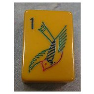 Vintage EASTERN SOARING SPARROW Mah Jong game - ready for NMJL play out of the box - 152 tiles