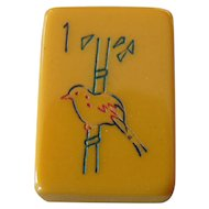 """Vintage """"SITTING SPARROW"""" ESL Mah Jong game - 152 tiles ready for Chinese and/or NMJL rules"""