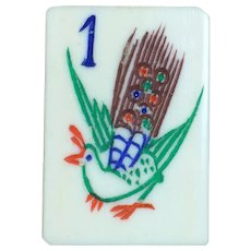"""Enjoy playing with a Vintage """"BONE & BAMBOO"""" Mah Jong game - own a piece of history - 152 tiles for NMJL play"""