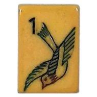 "Vintage ""2-TONE Mah-Jongg Sales of America (MJSA)"" - burgundy Mah Jong game - 152 tiles - Chinese or NMJL rules ready !"