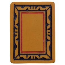 """Vintage """"Turkey"""" CHINESE  BAKELITE Mah Jong game with 152 butterscotch tiles"""