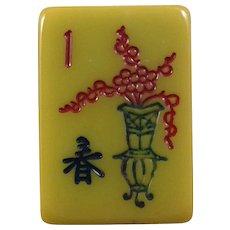APPLEJUICE tinted tiles in this beautiful Vintage CARDINAL Mah Jong game with 152 tiles