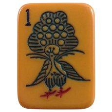 "RARE & EXCITING - Vintage ""ROTTGAMES"" Mah Jong game - tri-color/beaded flippies rare SEA GREEN racks - 152 tiles"