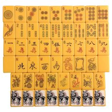 ROYAL Vintage Mah Jong game - 152 tiles with amazing tile color - needs a new home!