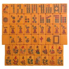 """Vintage """"TYL"""" Mah Jong game - enjoy playing either Chinese or NMJL rules out of the box - 152 tiles!"""